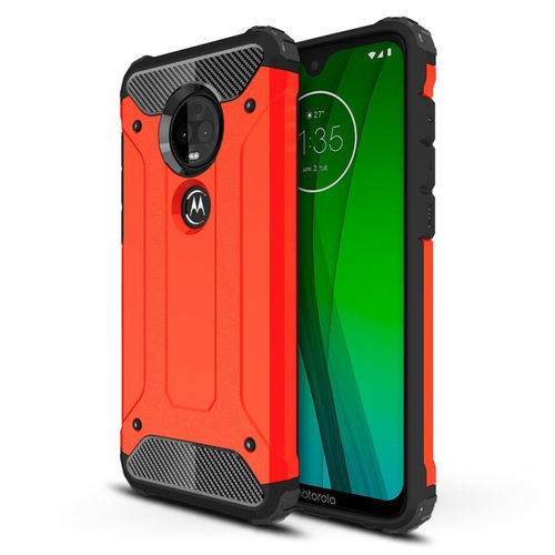 Military Defender Shockproof Case - Motorola Moto G7 / G7 Plus - Red